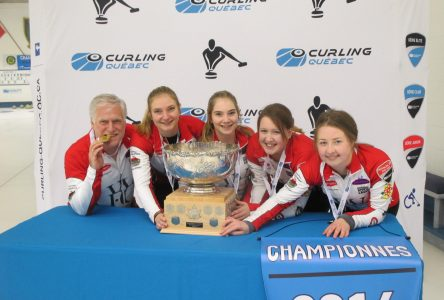 Lennoxville curling star sweeping local community off its feet