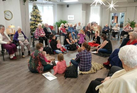 Young and old enjoy Mother Goose  fun at the Wales Home