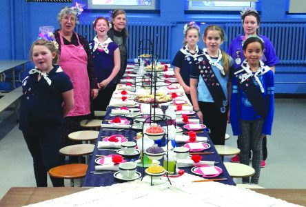 Knowlton Guides hosted a British High Tea