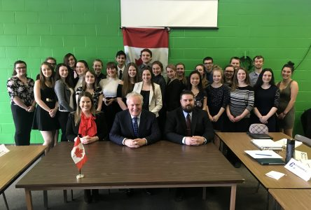 Charest shares ­political savvy with Galt ­students