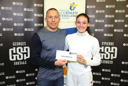 Sherbrooke fencer receives Georges St-Pierre Foundation grant