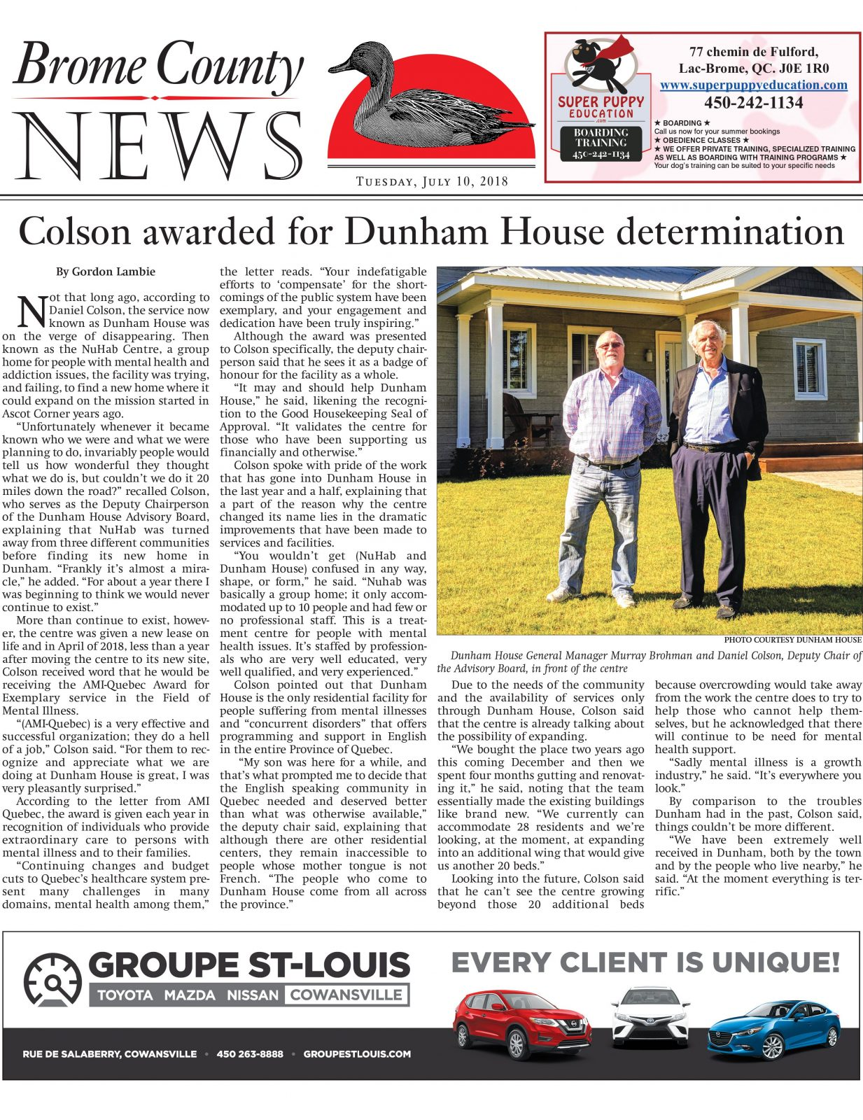 Brome County News July 10, 2018 Edition