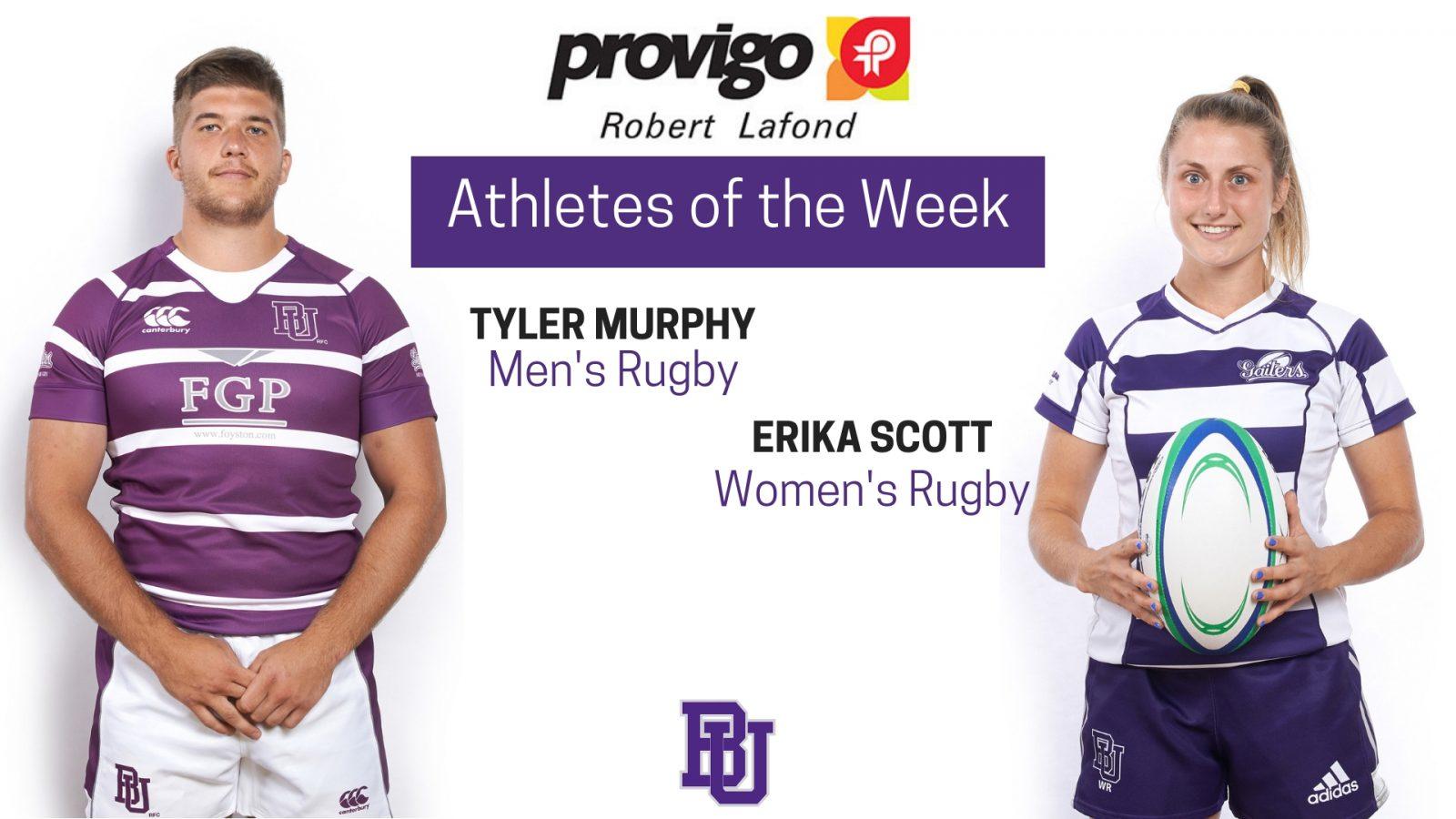Scott and Murphy named Provigo, Robert Lafond Bishop's Athletes of the Week