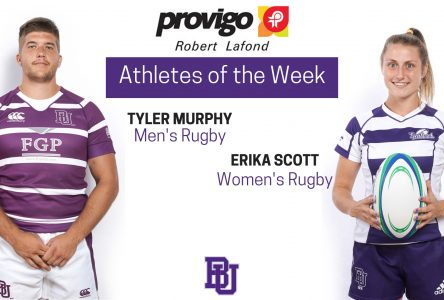 Scott and Murphy named Provigo, Robert Lafond Bishop's Athletes of the Week