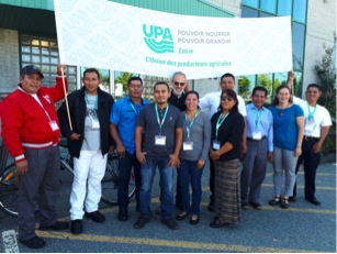 Salvadoran farmers intern in dairy production and processing in Estrie