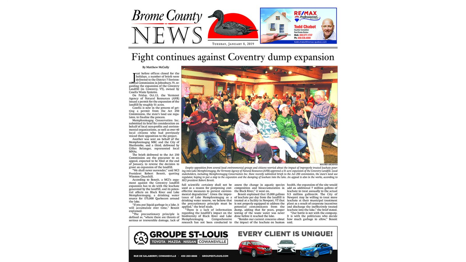 Brome County News – January 8, 2019 edition