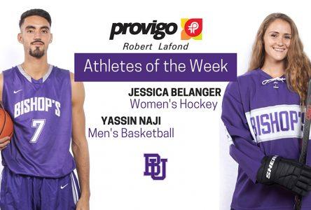 Belanger and Naji named Provigo, Robert  Lafond Bishop's Athletes of the Week