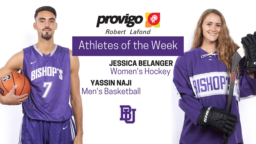 Belanger and Naji named Provigo, Robert  Lafond Bishop's Athletes of the Week