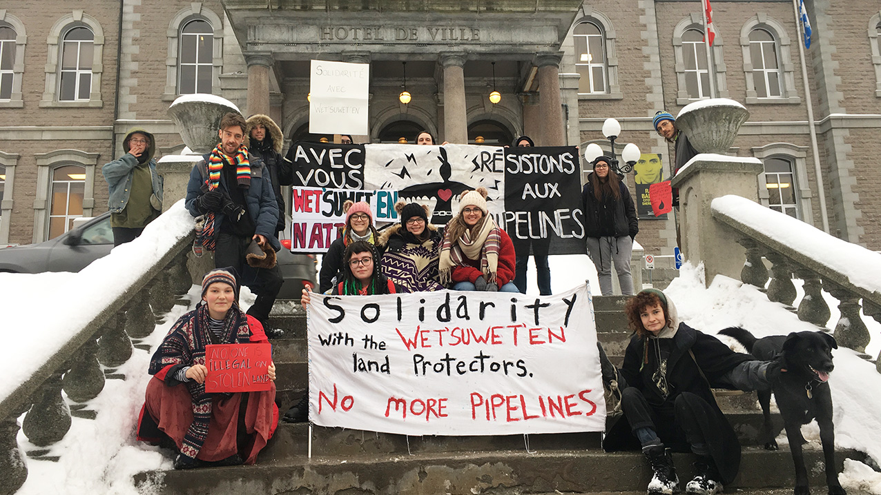Sherbrooke rallies in support of the Wet'suwet'en First Nation