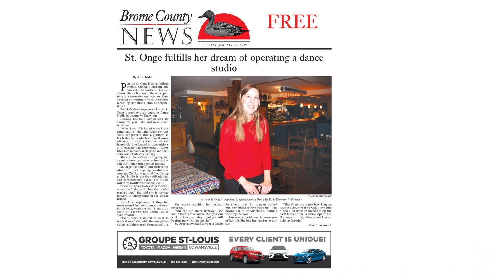 Brome County News – January 22, 2019 edition