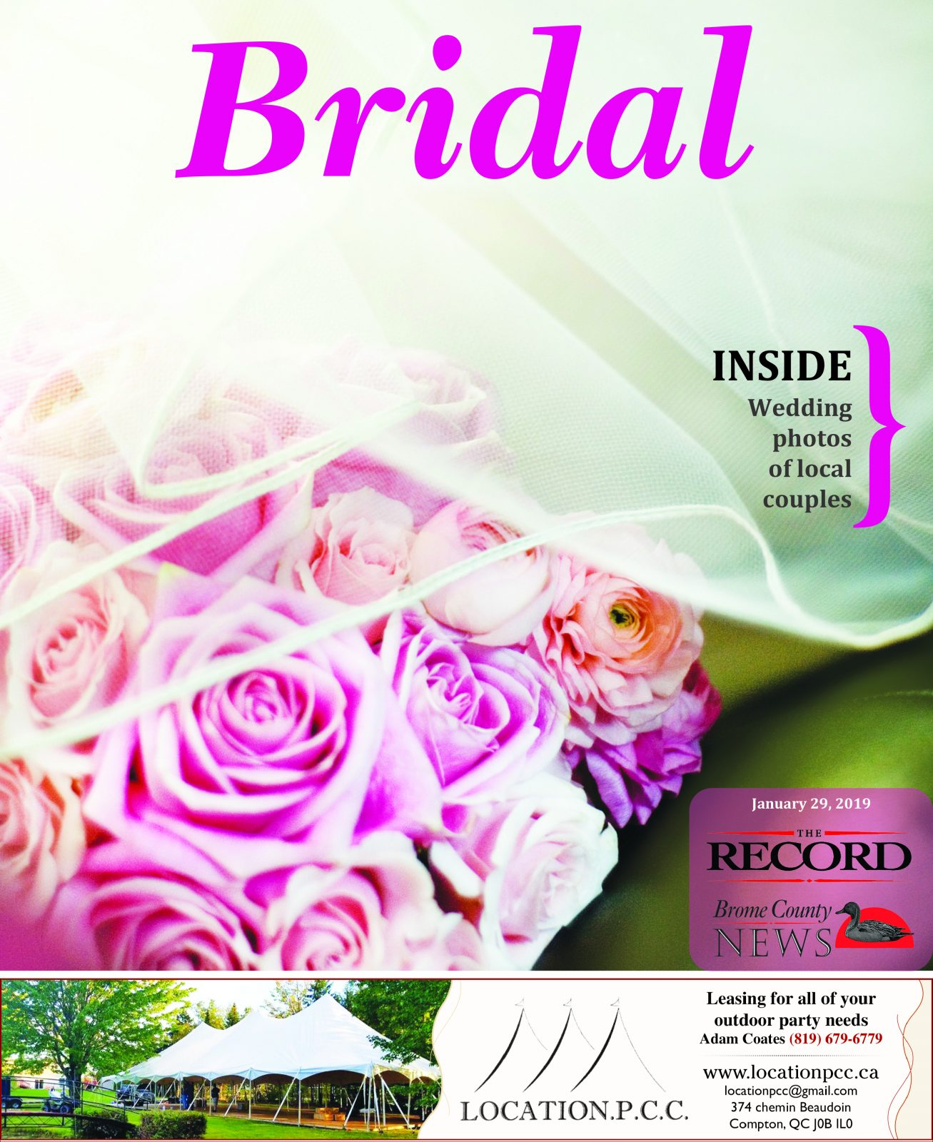 Bridal – Special Supplement January 29, 2019