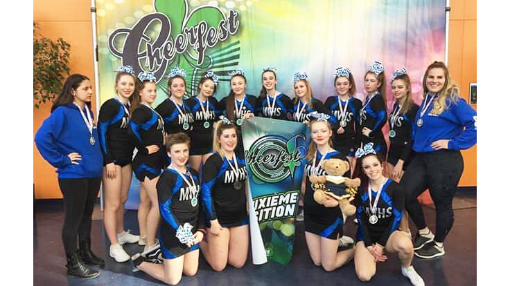 The Massey Vanier Cheerleaders grab second place