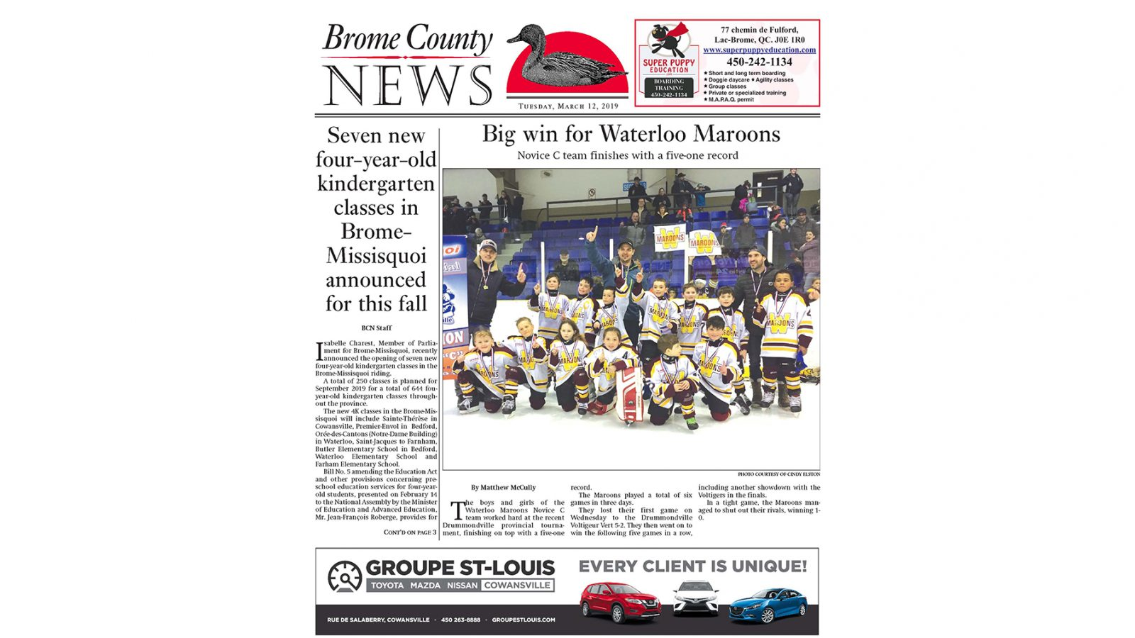 Brome County News – March 12, 2019 edition