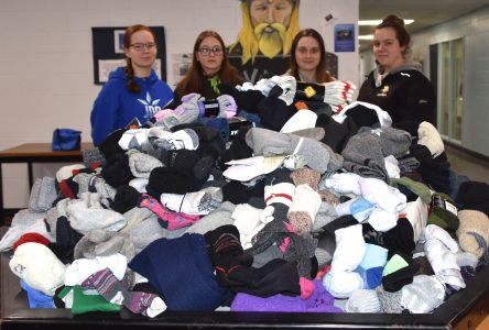 ETSB gathers 741 pairs of socks for homeless shelters