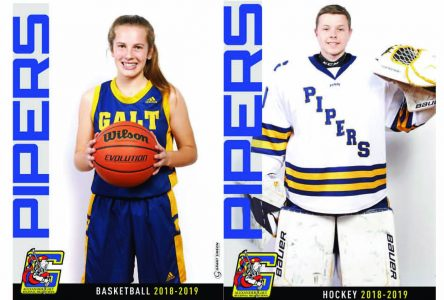Gilbert and Fisk named Piper athletes of the month