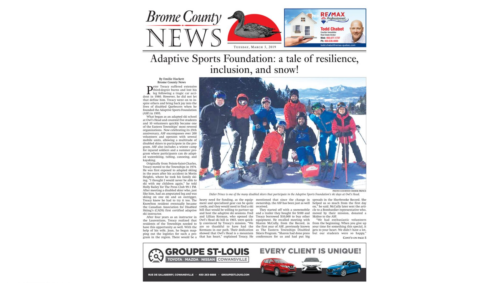 Brome County News – March 5, 2019 edition