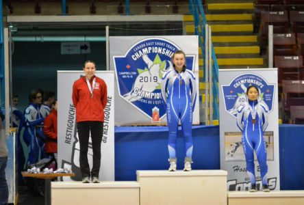 Amelia Blinn wins four medals at the Canada  East Short Track Championship