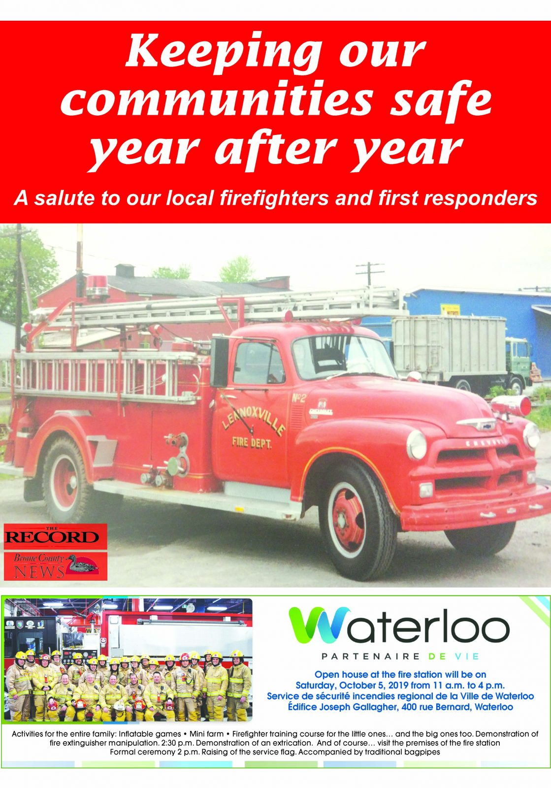 Keeping our communities safe year after year – Special Section, April 30, 2019