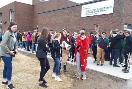 Richmond Regional ­students walk out for the Earth
