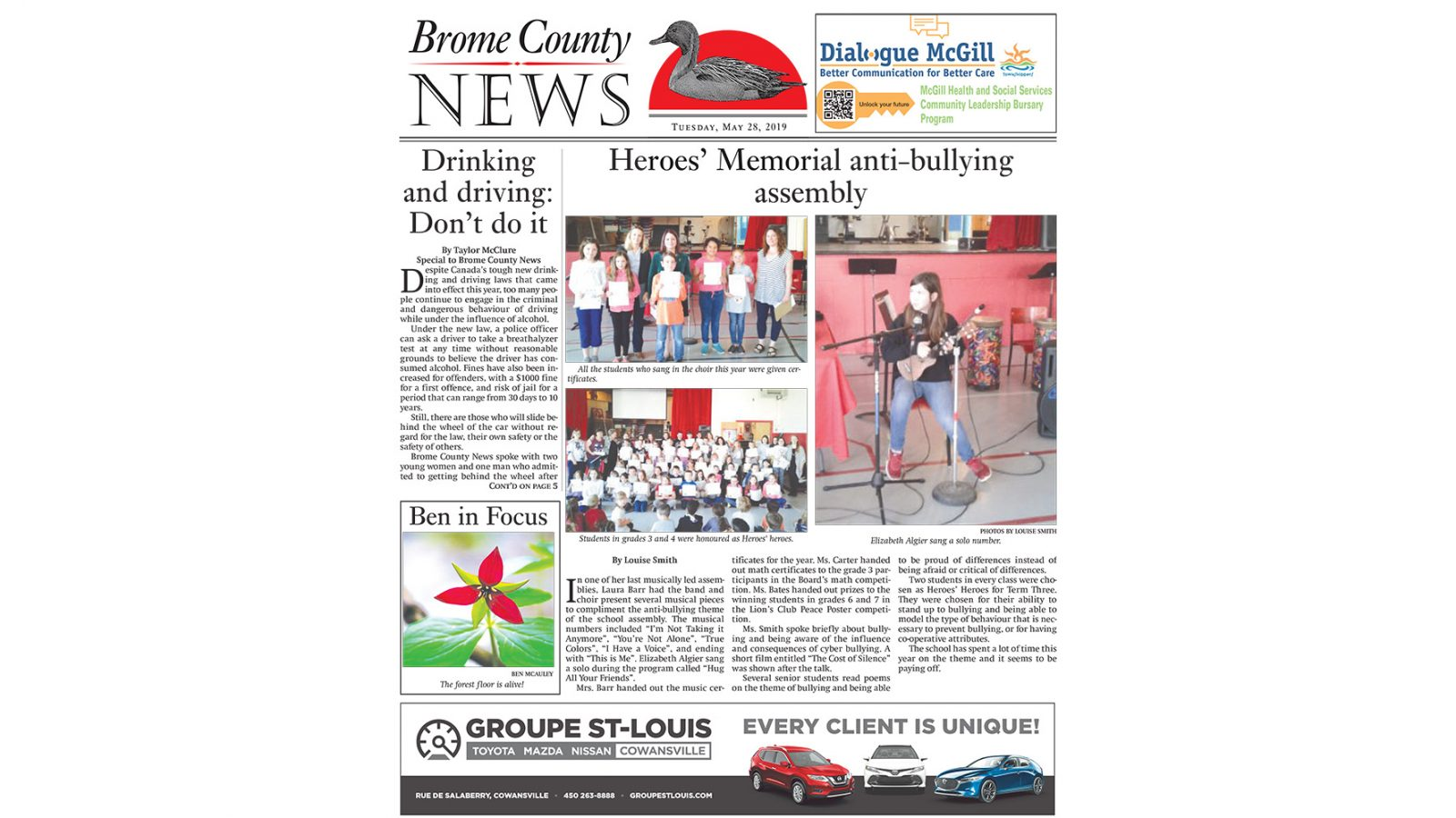 Brome County News – May 28, 2019 edition