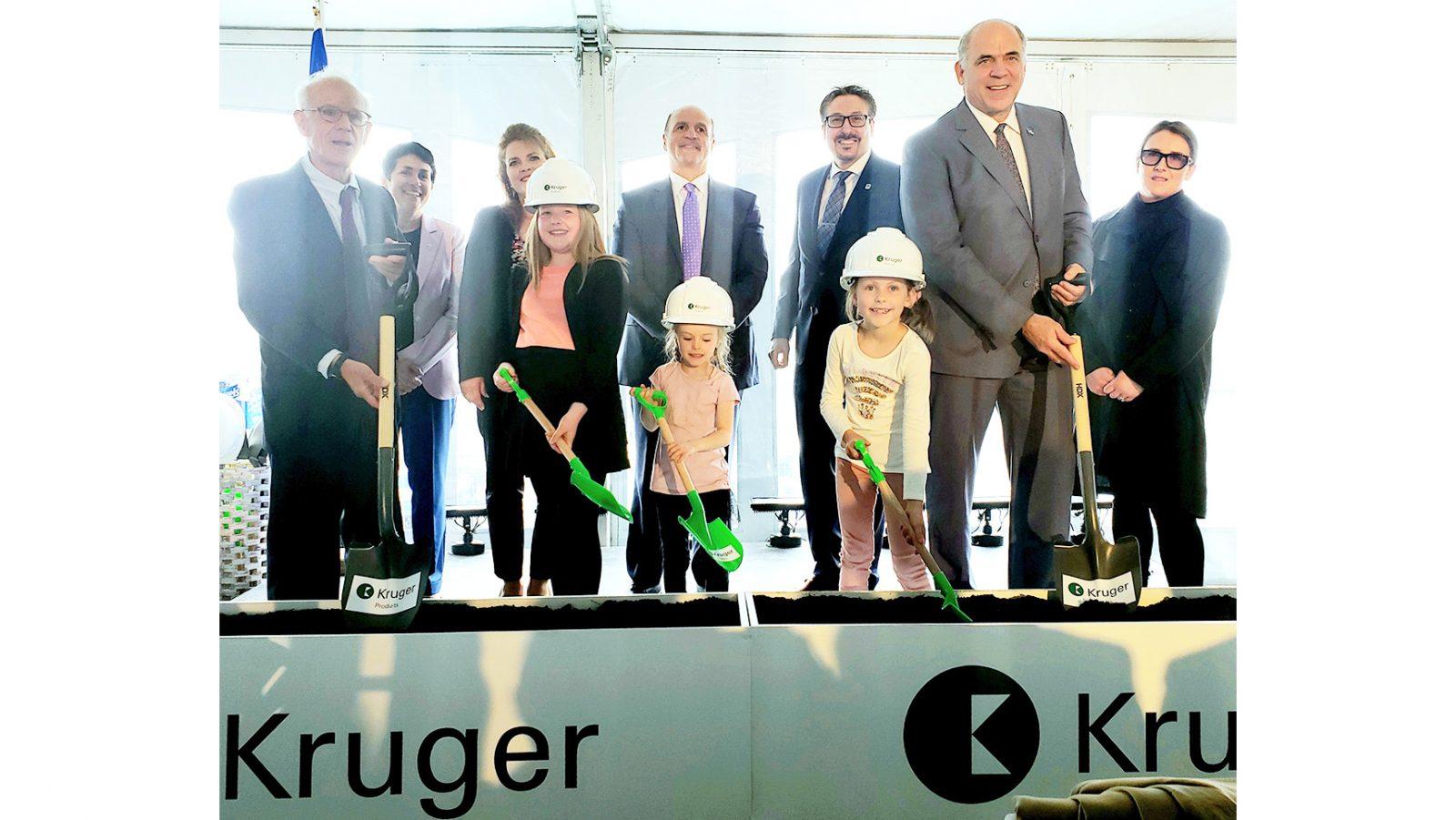 Kruger breaks ground on new factory in Brompton