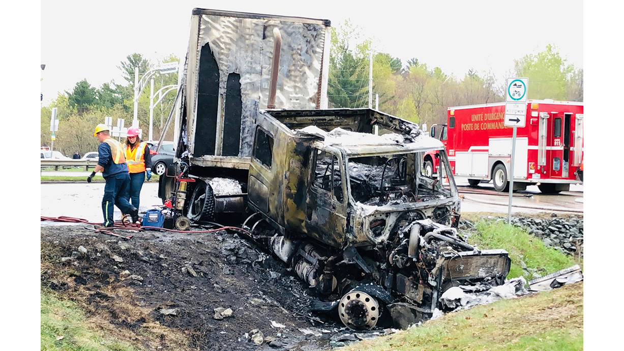 Truck fire leads to traffic trouble in Richmond