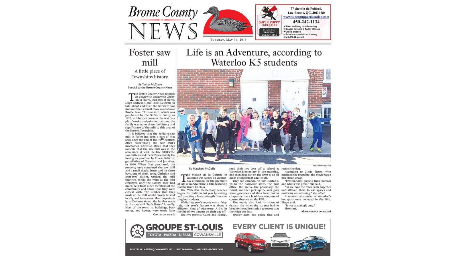 Brome County News – May 14, 2019 edition