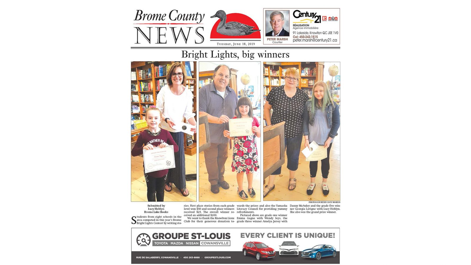 Brome County News – June 18, 2019 edition