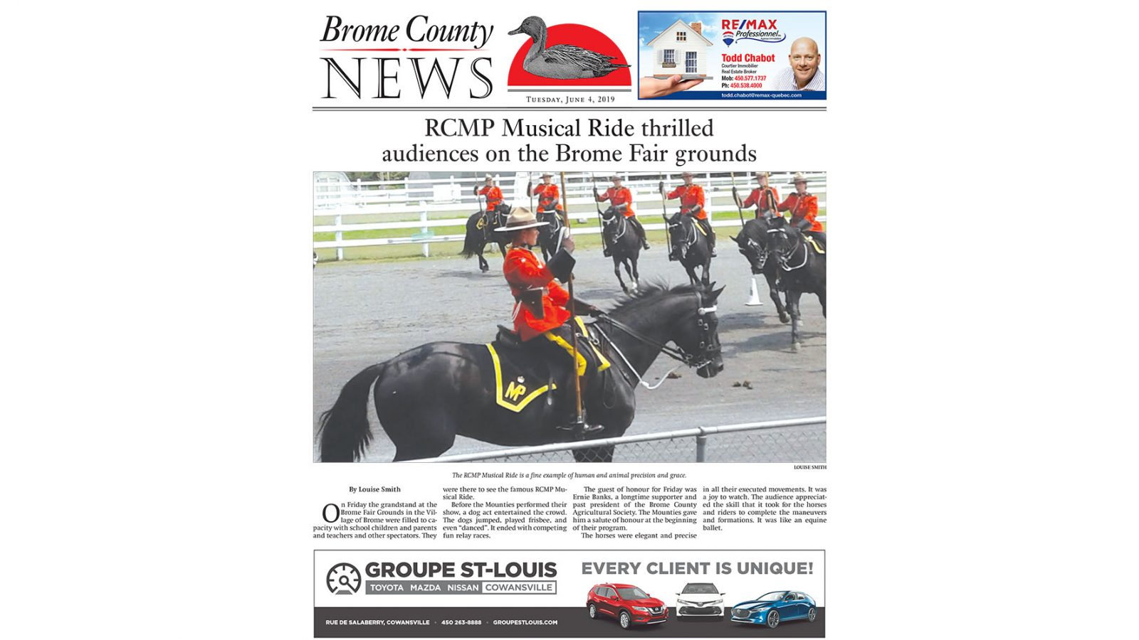 Brome County News – June 4, 2019 edition
