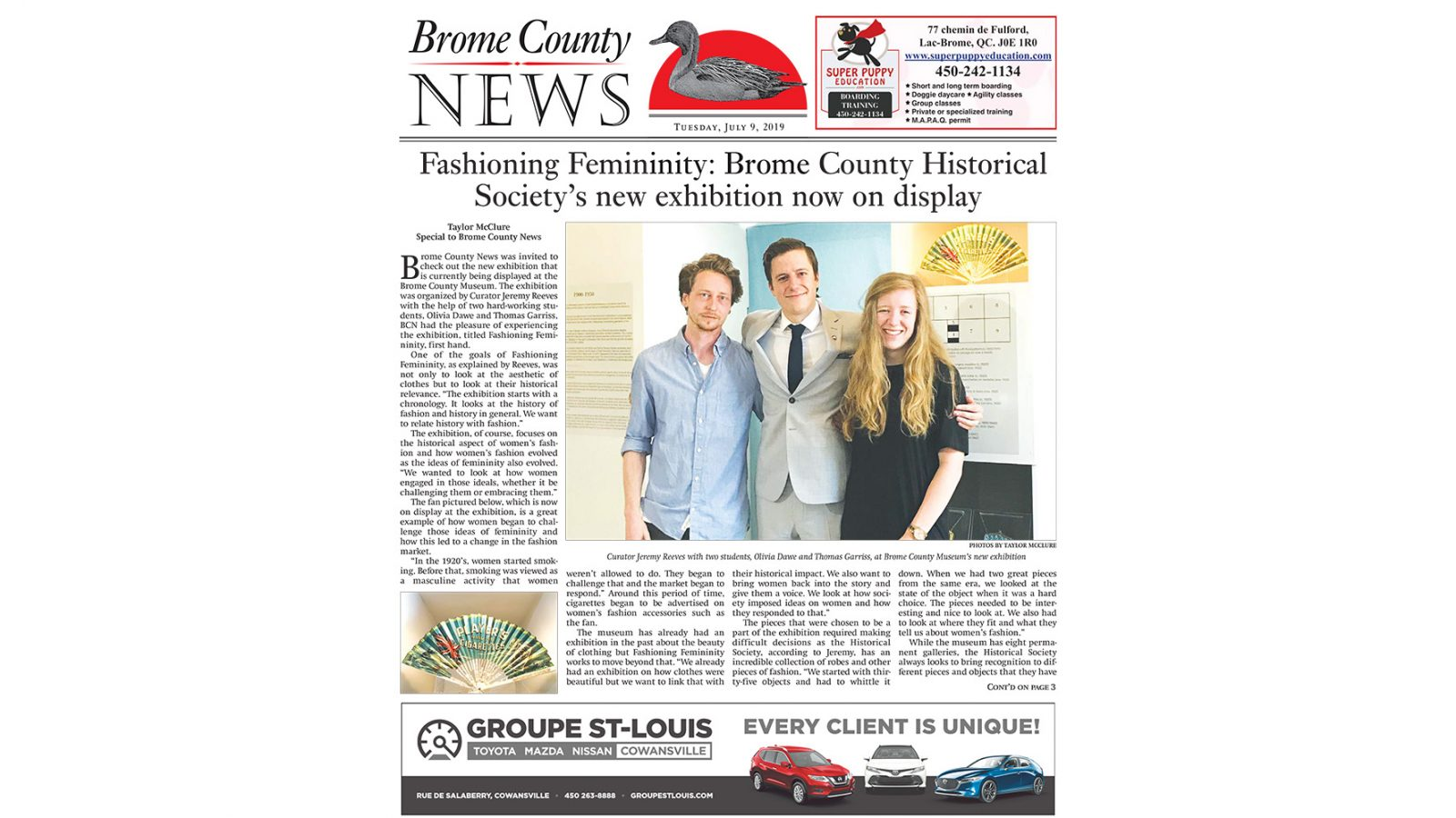 Brome County News – July 9, 2019 edition