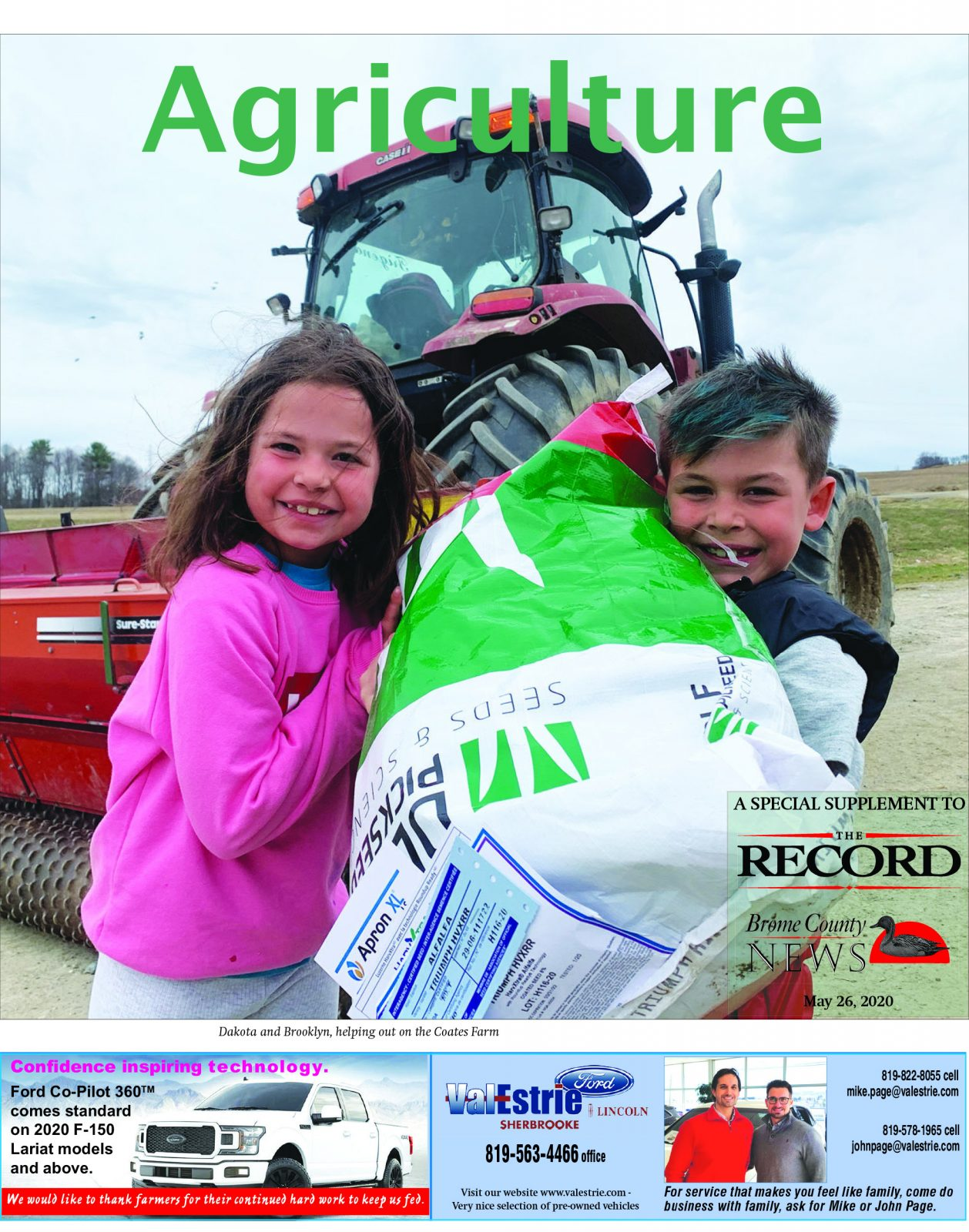 Agriculture – Special supplement May 26, 2020