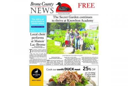 Brome County News – August 18, 2020 Edition
