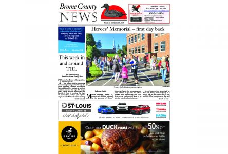 Brome County News – September 8, 2020 edition