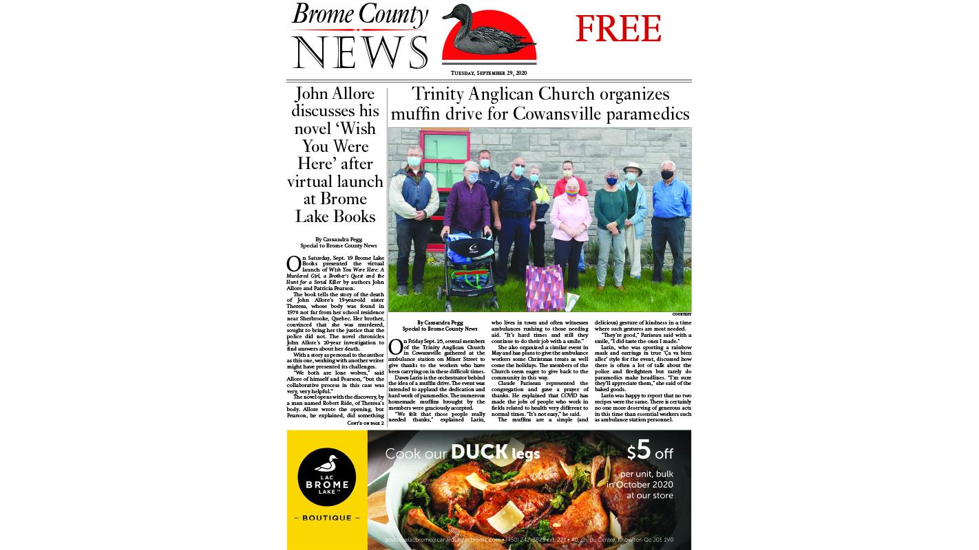 Brome County News: Sept. 29, 2020 edition