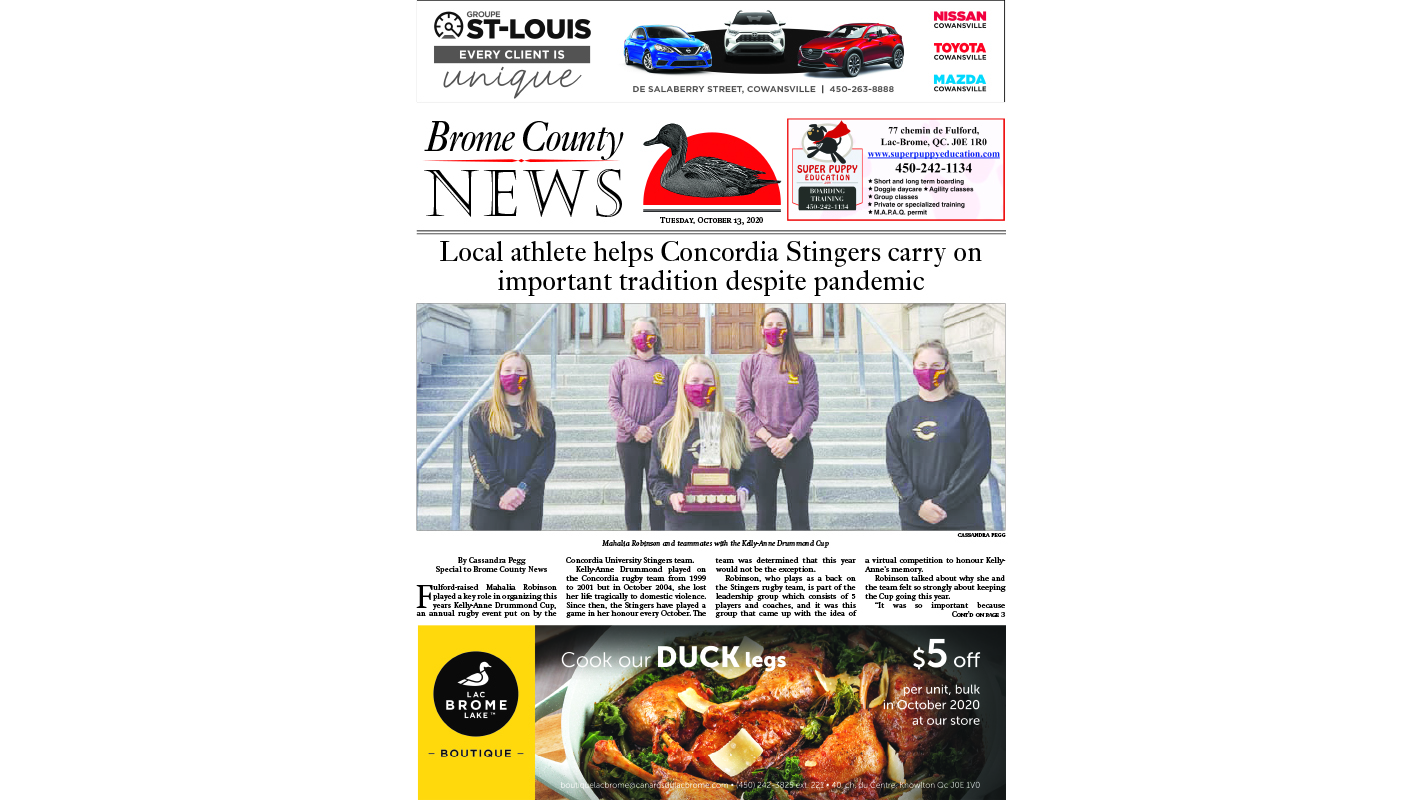 Brome County News – Oct. 13, 2020 edition