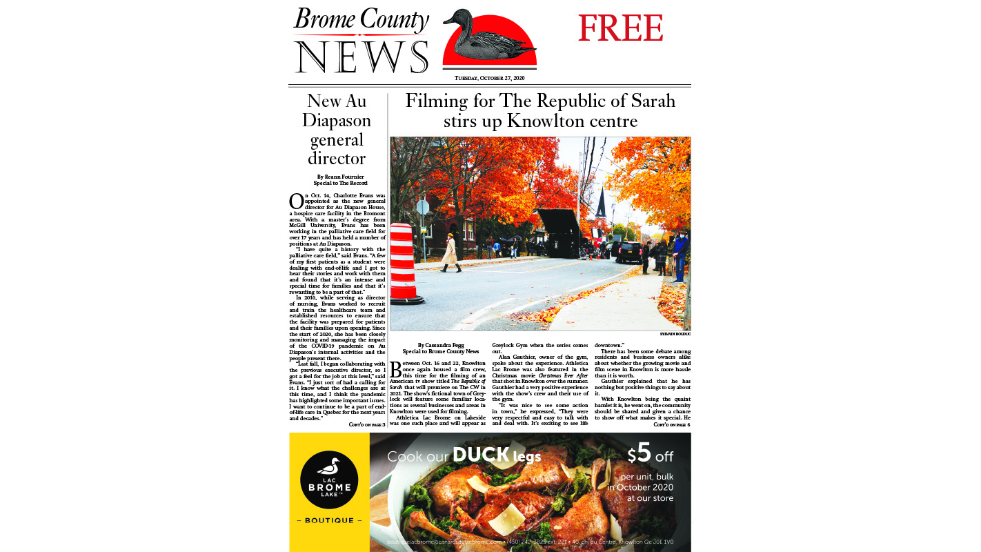 Brome County News – Oct. 27, 2020 edition
