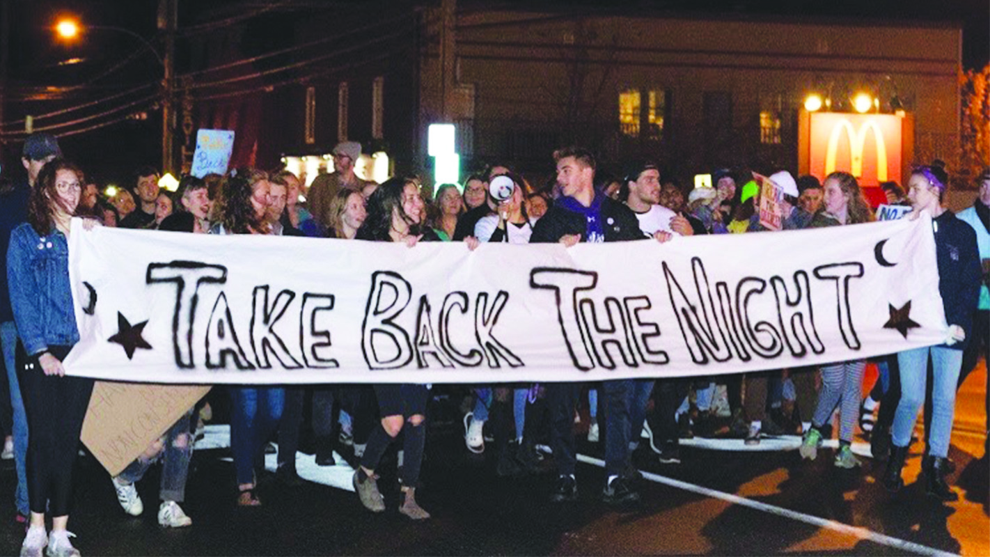 Bishop's University students prepare for  Take Back the Night march
