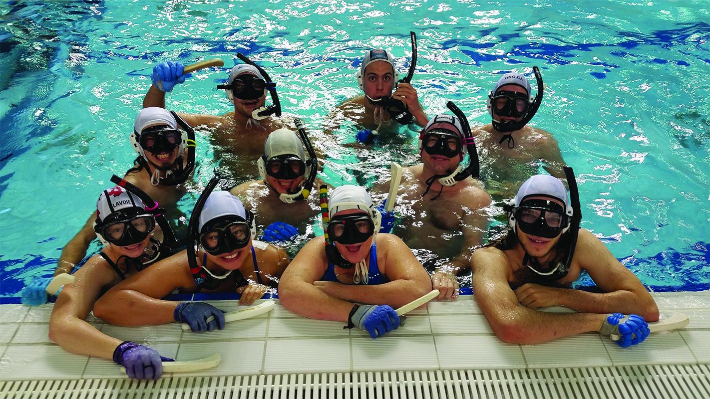 Strange sports in the townships: underwater hockey