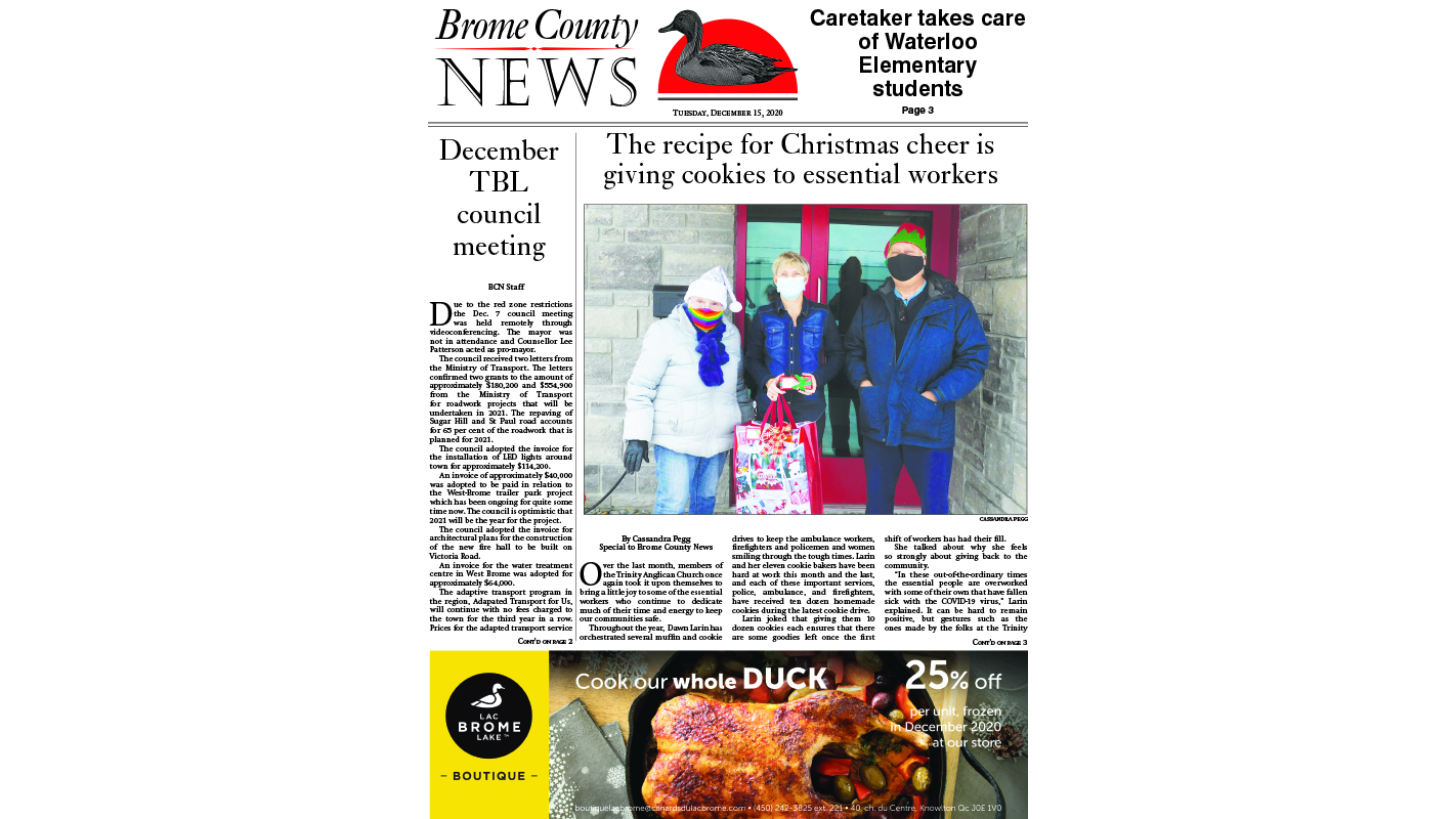 Brome County News – Dec. 15, 2020 edition