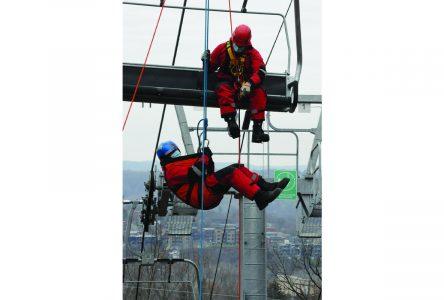 Rescue simulation at Mont Bellevue