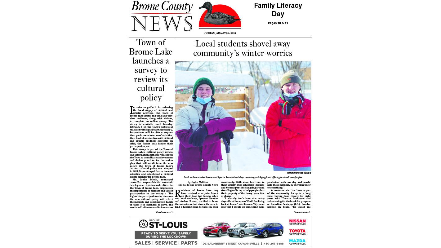 Brome County News – Jan. 26, 2021 edition