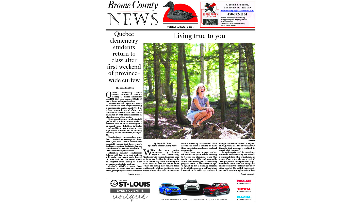 Brome County News – Jan. 12, 2021 edition