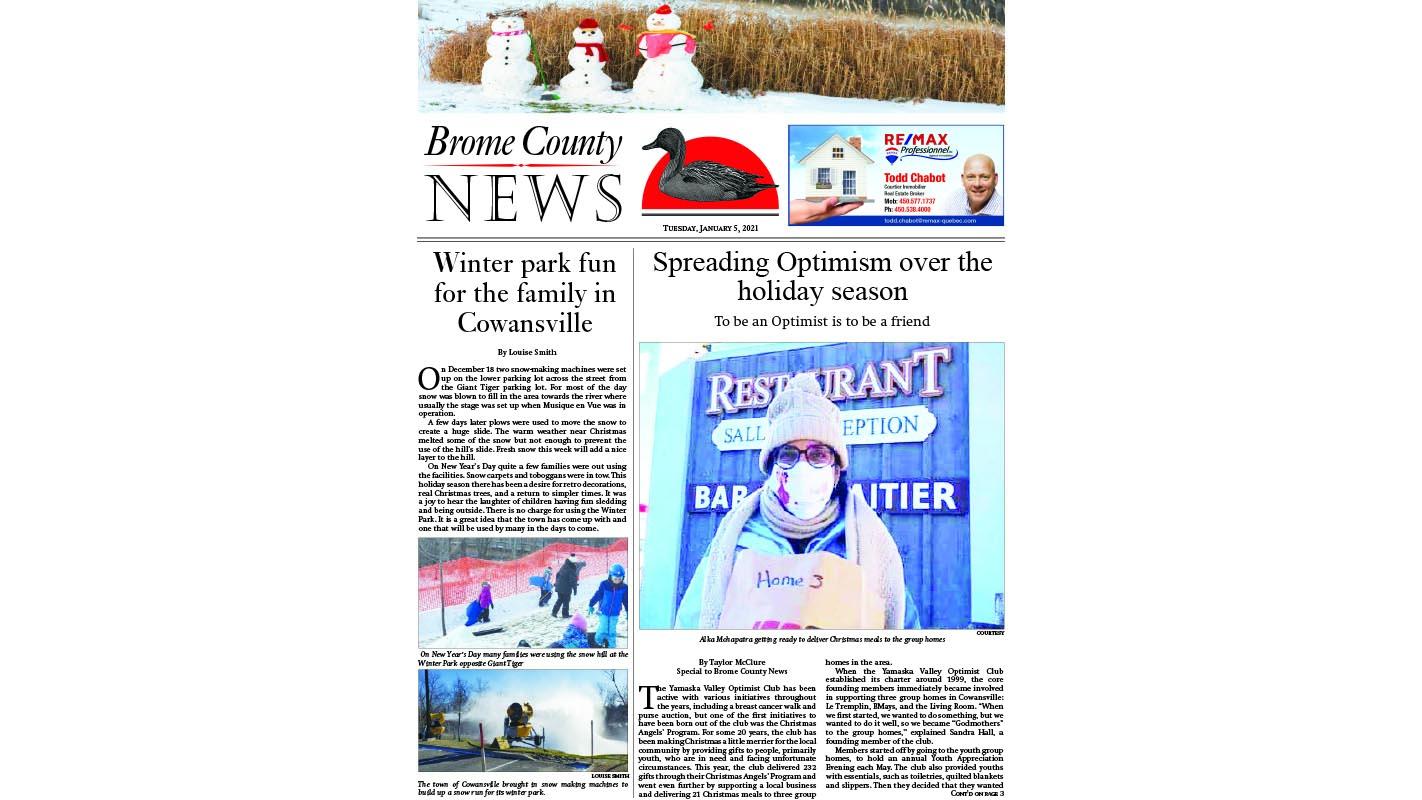 Brome County News – Jan. 5, 2021 edition
