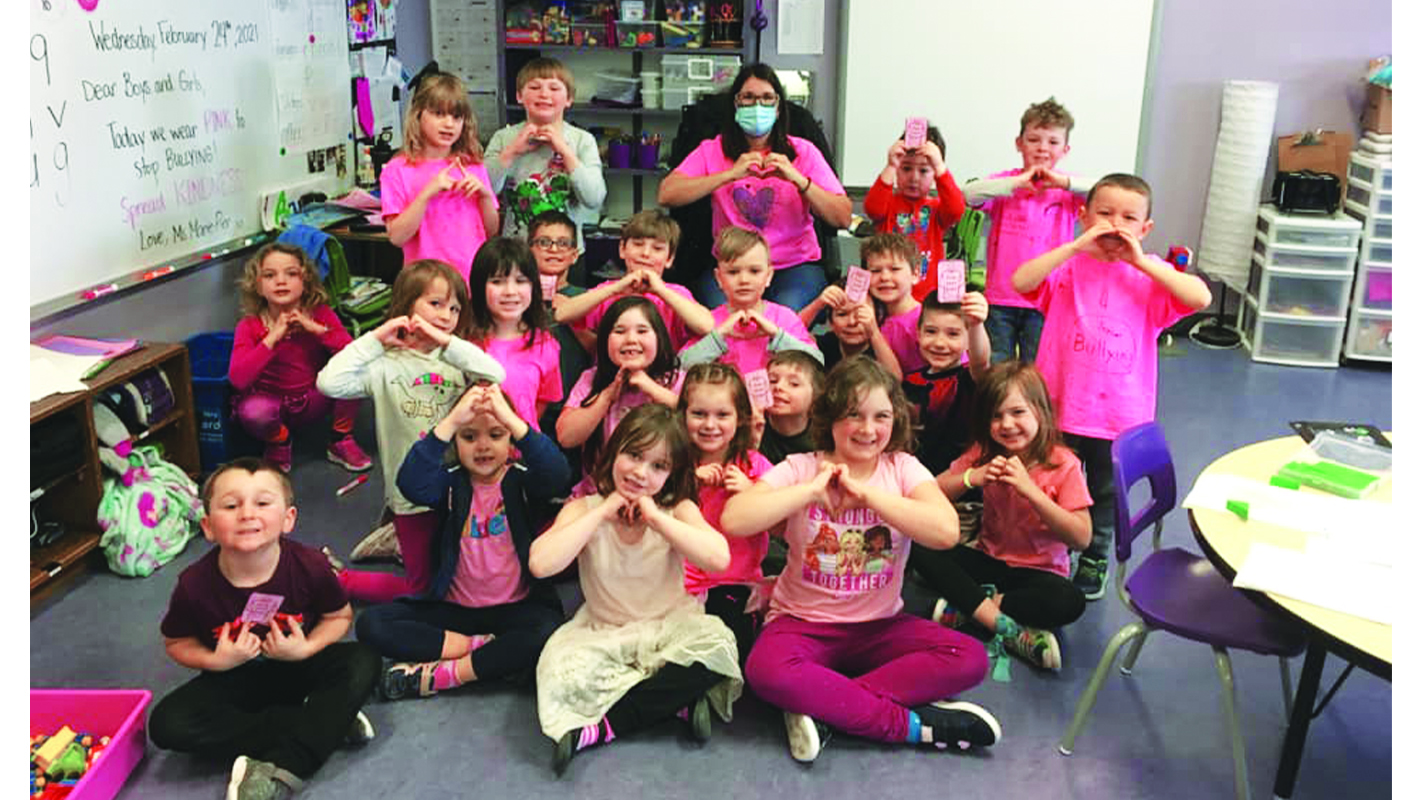 Local schools put on pink to  stand up to bullying