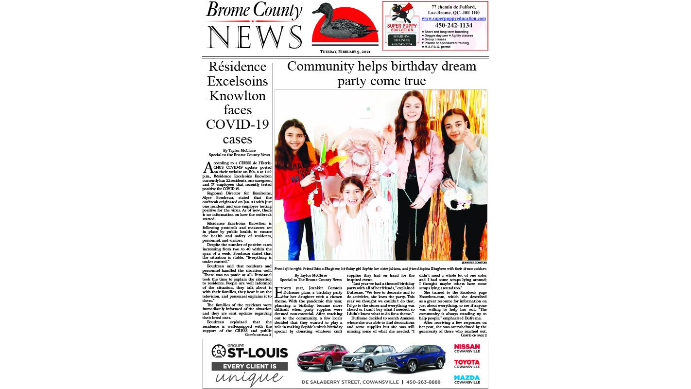 Brome County News – Feb. 9, 2021 edition