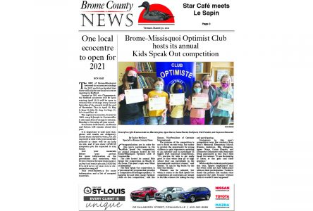 Brome County News March 30 edition