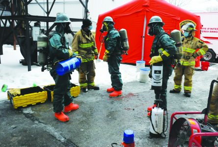 Firefighters remove hazardous material in 15-hour affair