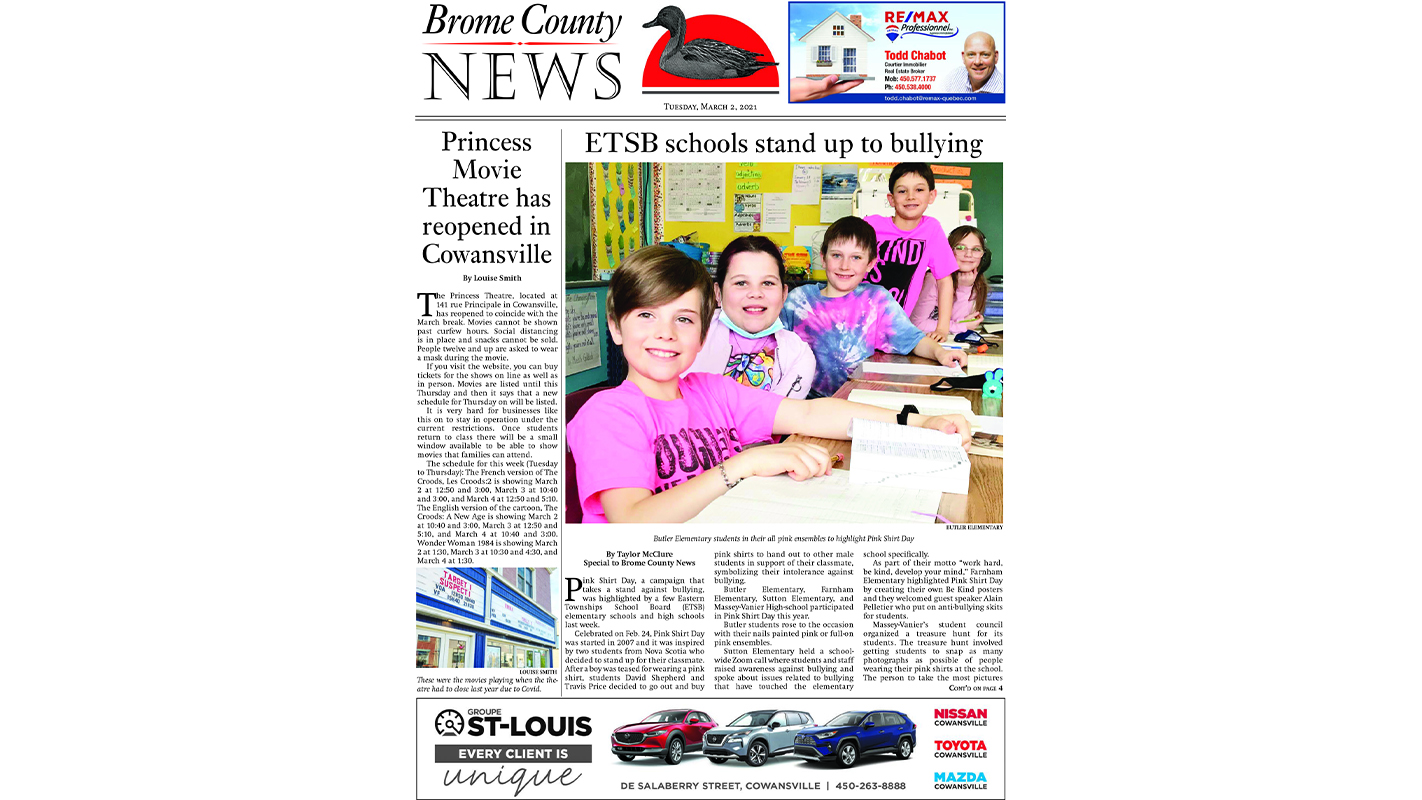 Brome County News – March 2, 2021 edition