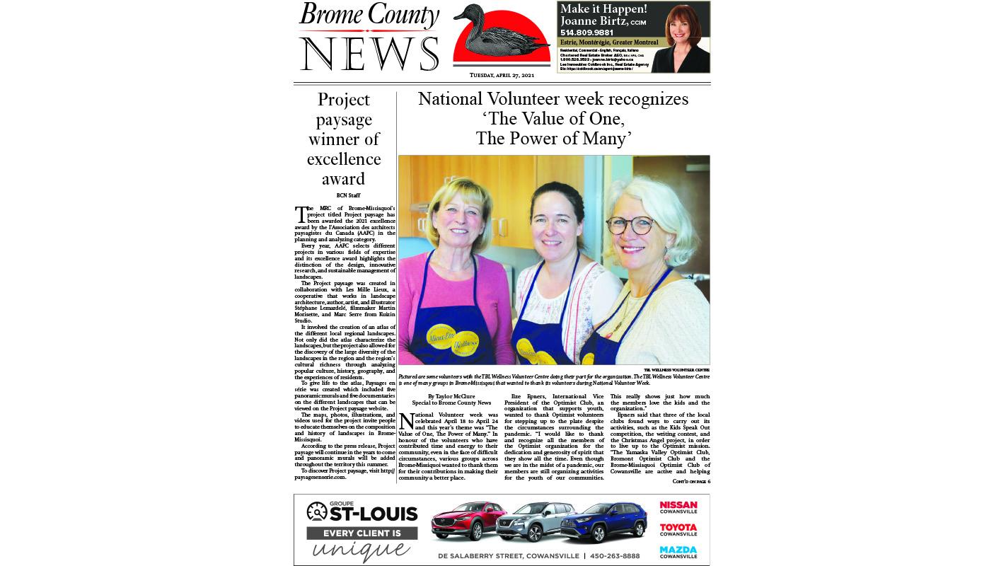 Brome County News – April 27, 2021 edition