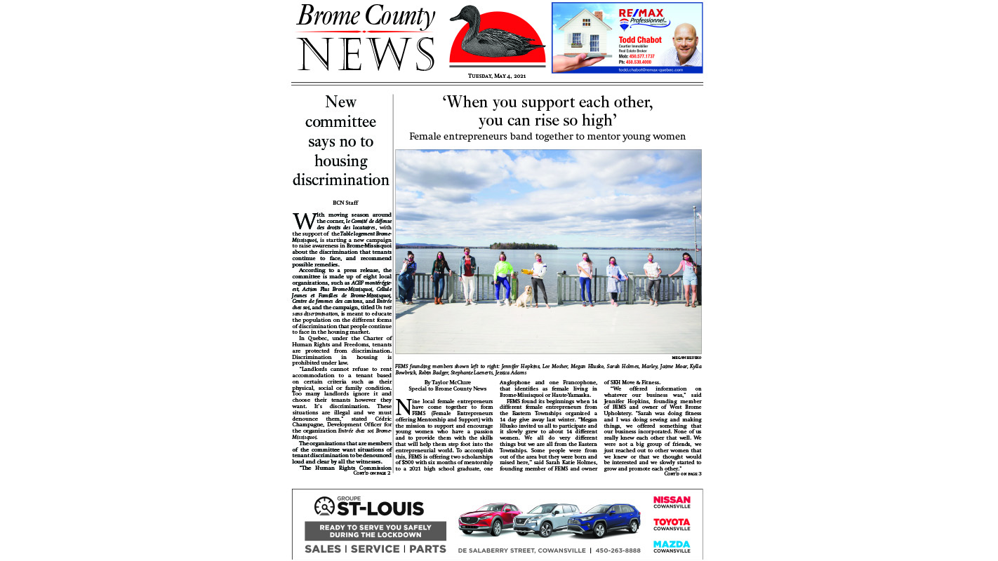 Read the entire May 4 edition of the Brome County News online